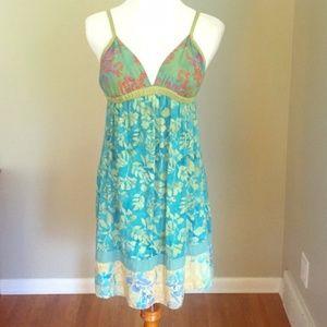 Tropical Floral Sun  Blue  Dress by Santiki